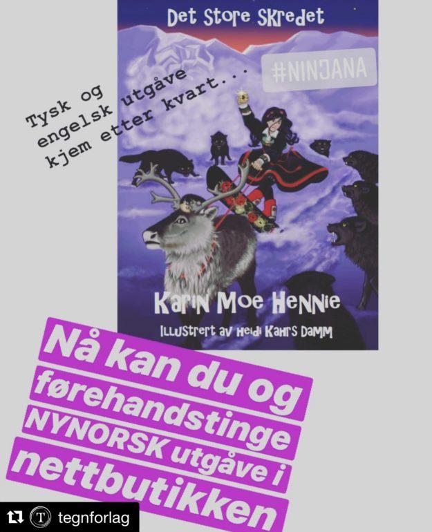 Ninjana blir nynorsk, engelsk og tysk!